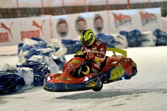 Valentino Rossi Go cart on ice