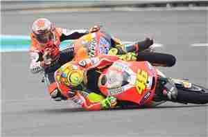 MotoGP Jerez Stoner Rossi crash