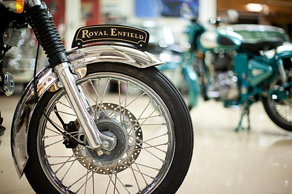 Jey Leno's garage welcomes a Royal Enfield