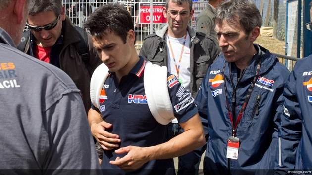 Simoncelli and Pedrosa crash
