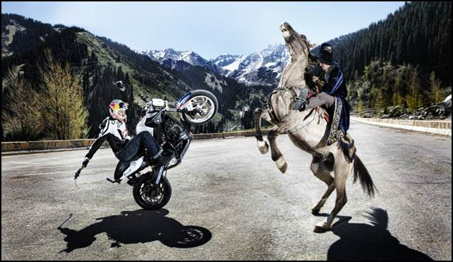 CHRIS PFEIFFERS KAZAKHSTAN TOUR Bike versus Horse