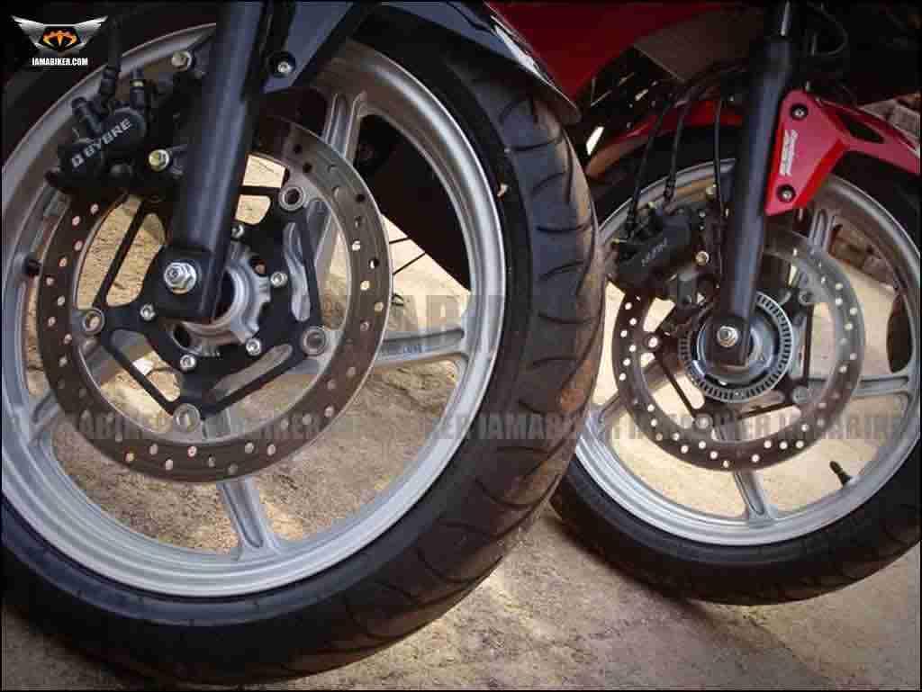 Honda CBR250R front tyre
