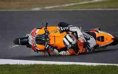 Dani Pedrosa crash Repsol Honda
