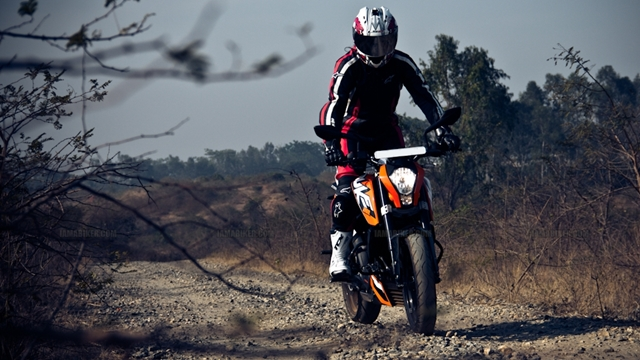 KTM Duke 200 review offroading KTM Duke 200 Review