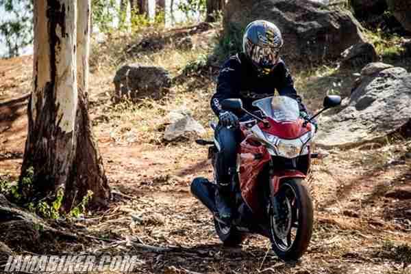 Honda CBR250R off-roading
