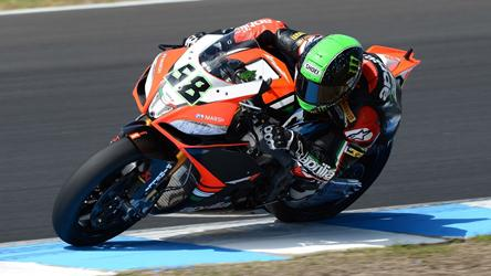Time Superbike Race On At Philip Island