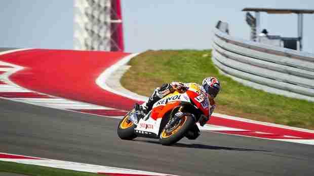 marc marquez Honda MotoGP testing Austin day 1 report
