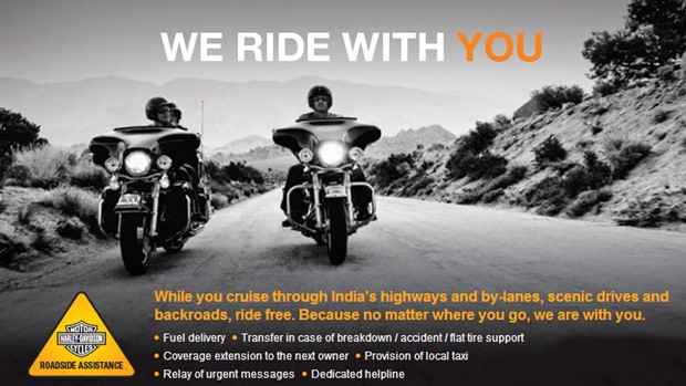 Harley-Davidson announces Roadside Assistance Program in India