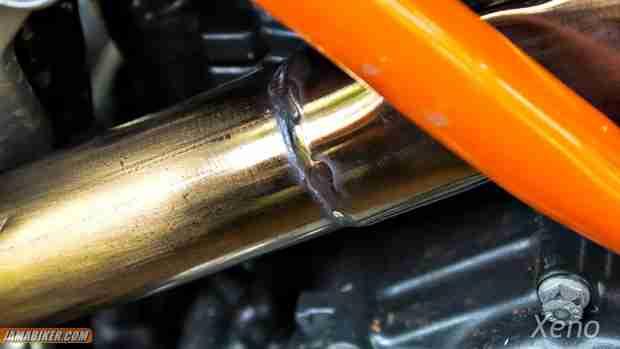 ktm duke 390 ugly exhaust weld