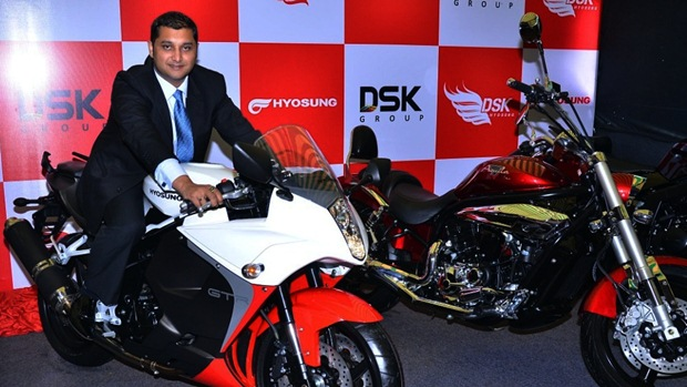 dsk hyosung new showroom in kolhapur