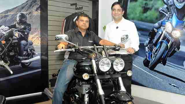 Triumph Motorcycles Bangalore showroom launch