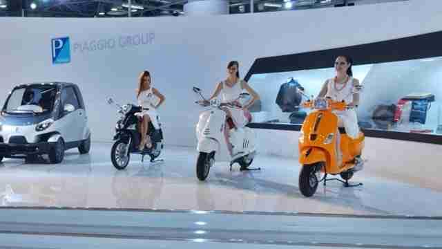 piaggio vespa line up auto expo 2014