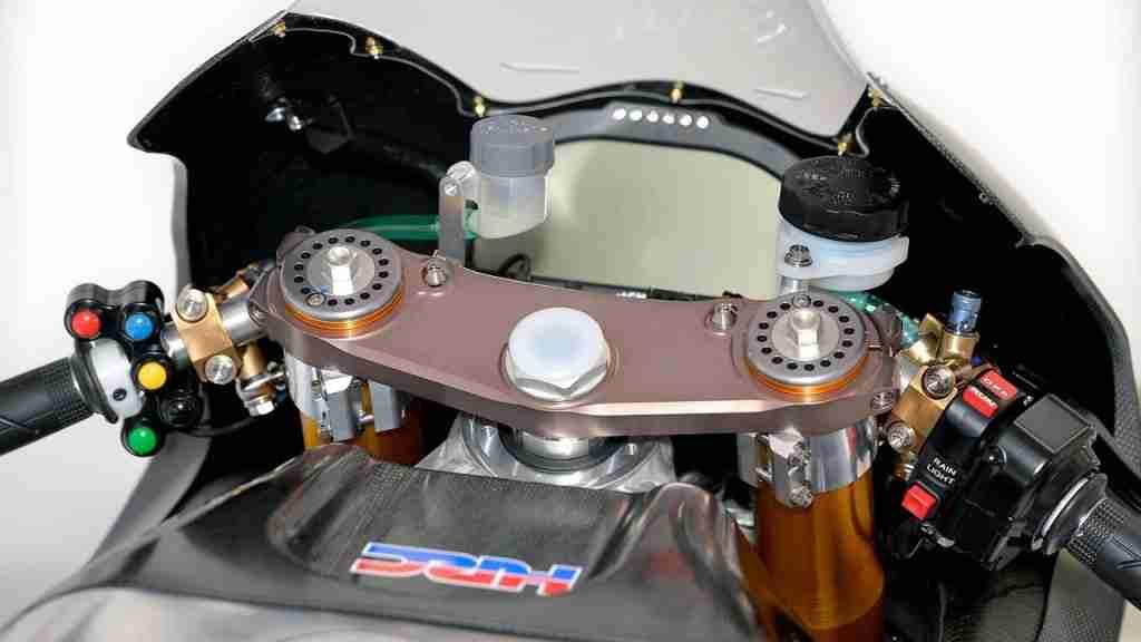Honda RCV1000R MotoGP Open Class cockpit