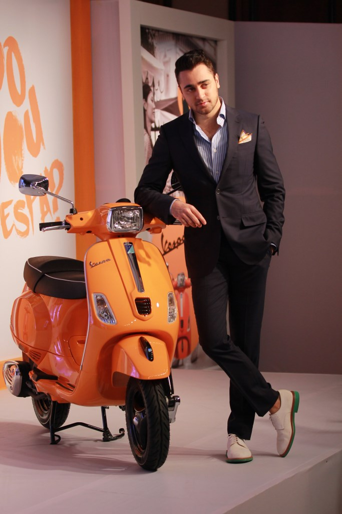 Imran Khan with the new Vespa S