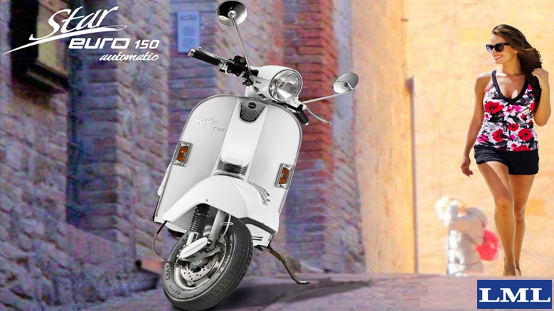 LML Star Euro 150 automatic scooter - colour, price, mileage and specifications