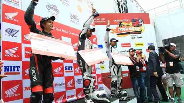 Winners of Honda One Make Race- Round 1- CBR 250 R category