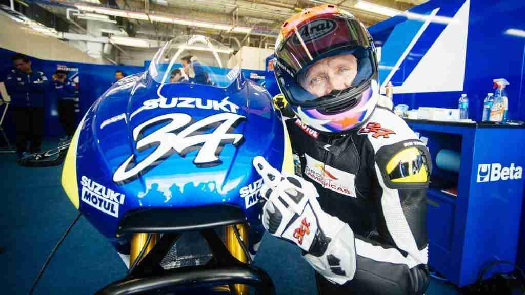 Kevin Schwantz Suzuki's MotoGP testing COTA Austin Texas