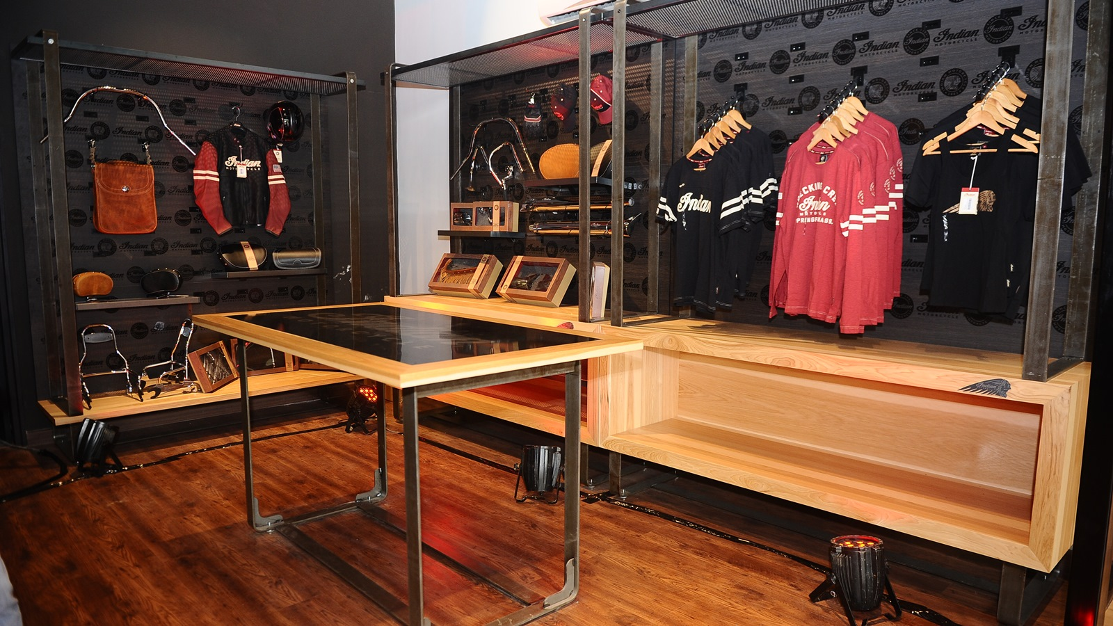 Indian Motorcycle Dealership India Inauguration Merchandise Section