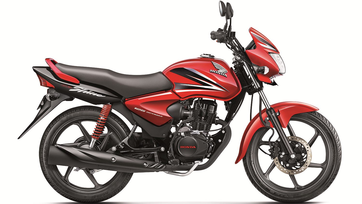 New Honda CB SHINE colour - dual tone red and black