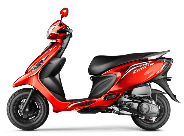 Tvs Scooty Zest Colour Red Iamabiker