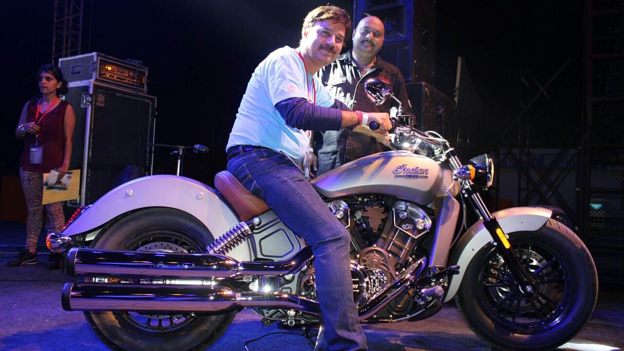 Indian Scout presented at Bike Festival of India