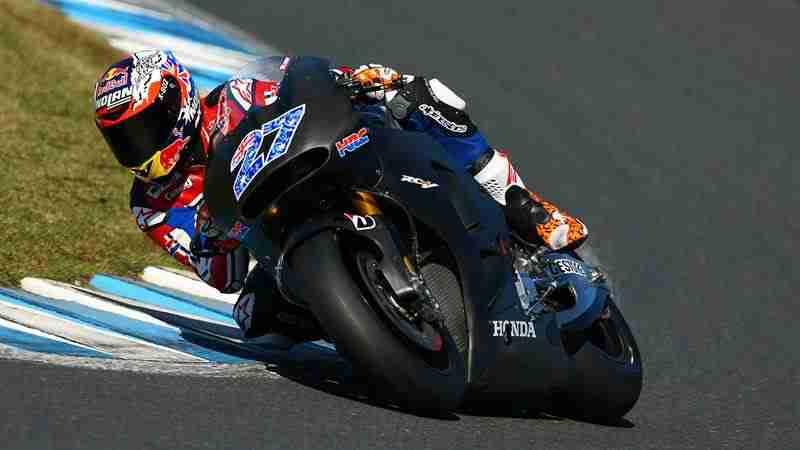 Casey Stoner testing Honda 2015