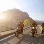2015 Moto Guzzi V7 II riding shot