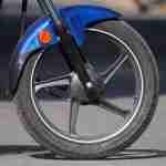 hero splendor ismart front tyre right side