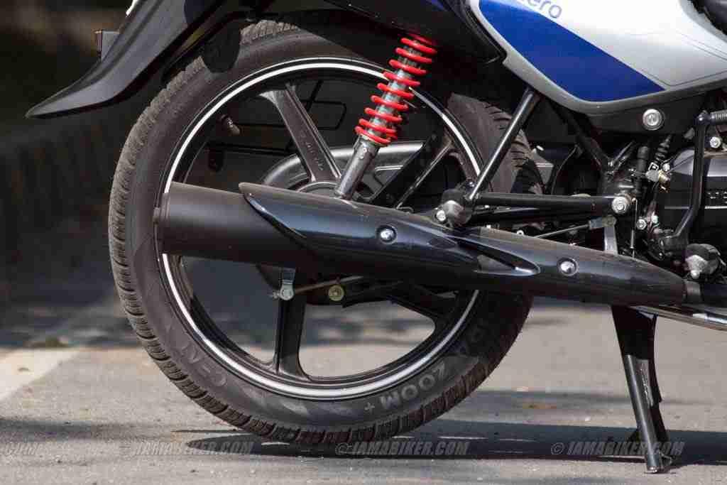 hero splendor ismart - tyre and silencer