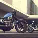 2015 Yamaha XV950 Racer with its inspiration