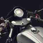 2015 Yamaha XV950 Racer Matt Grey clip-on handlebars