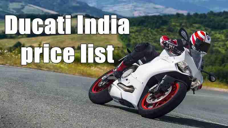 Ducati India price list