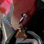 Honda CB Unicorn 160 CBS underseat opening