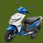 Honda Dio candy jazzy blue colour option