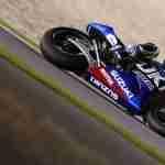 Maverick Vinales Ecstar Suzuki max lean MotoGP Qatar 2015