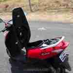Suzuki Lets scooter underseat space