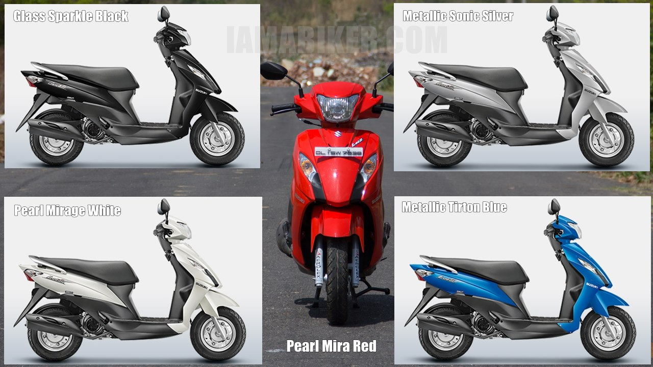 Suzuki Lets scooter all colour options