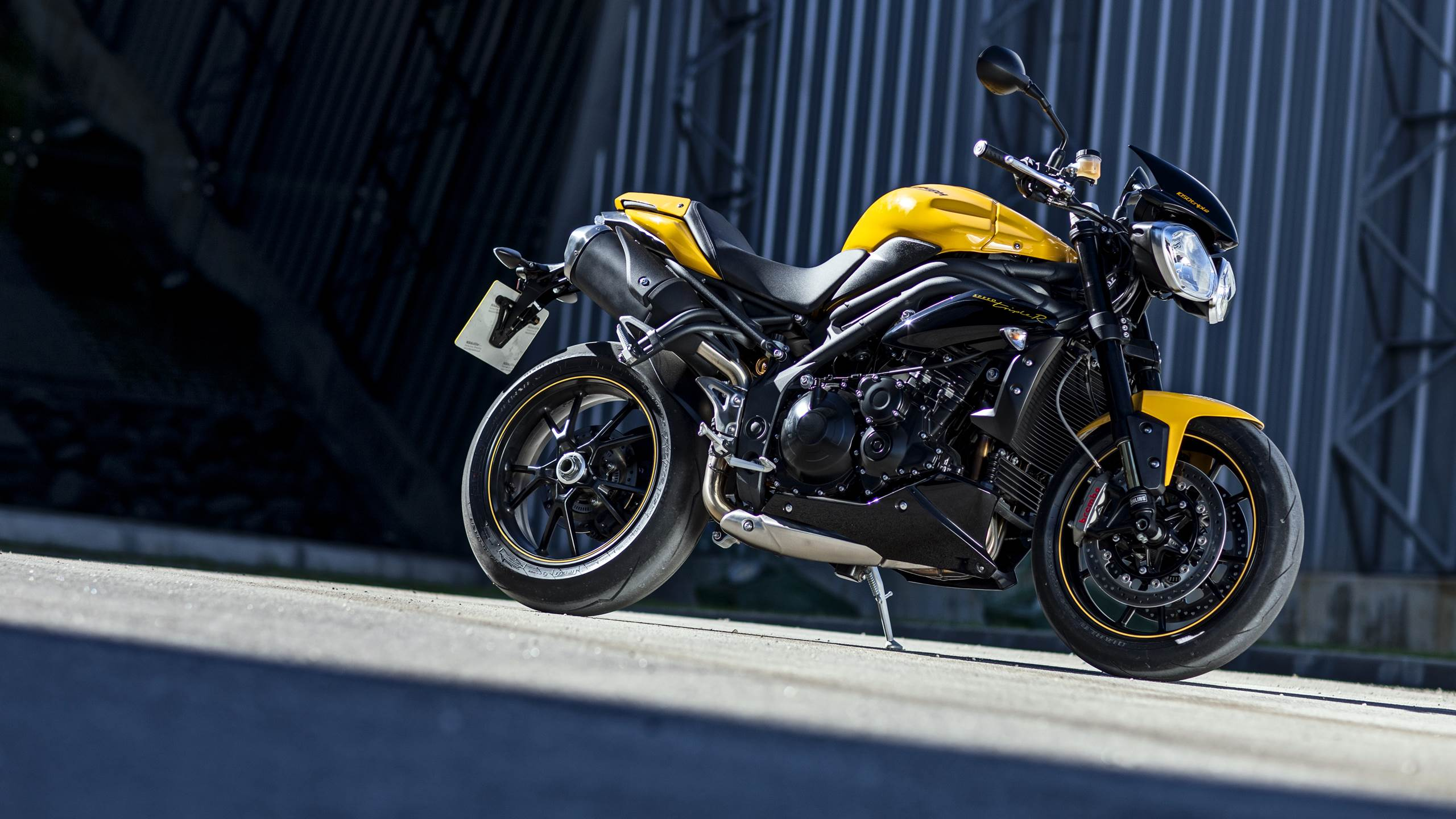 2015 Triumph Speed 94 racing yellow colour option