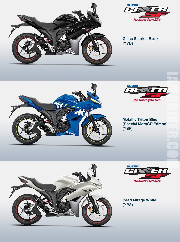 Suzuki Gixxer SF all colour options