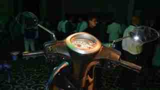 Yamaha Fascino handle bar and meter
