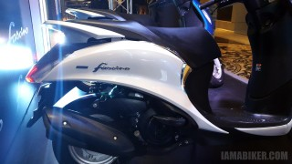 Yamaha Fascino white, seat and back section