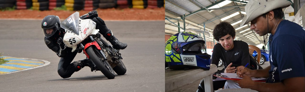 Amarnath Menon with Jeeva Reddy - Apex Racing