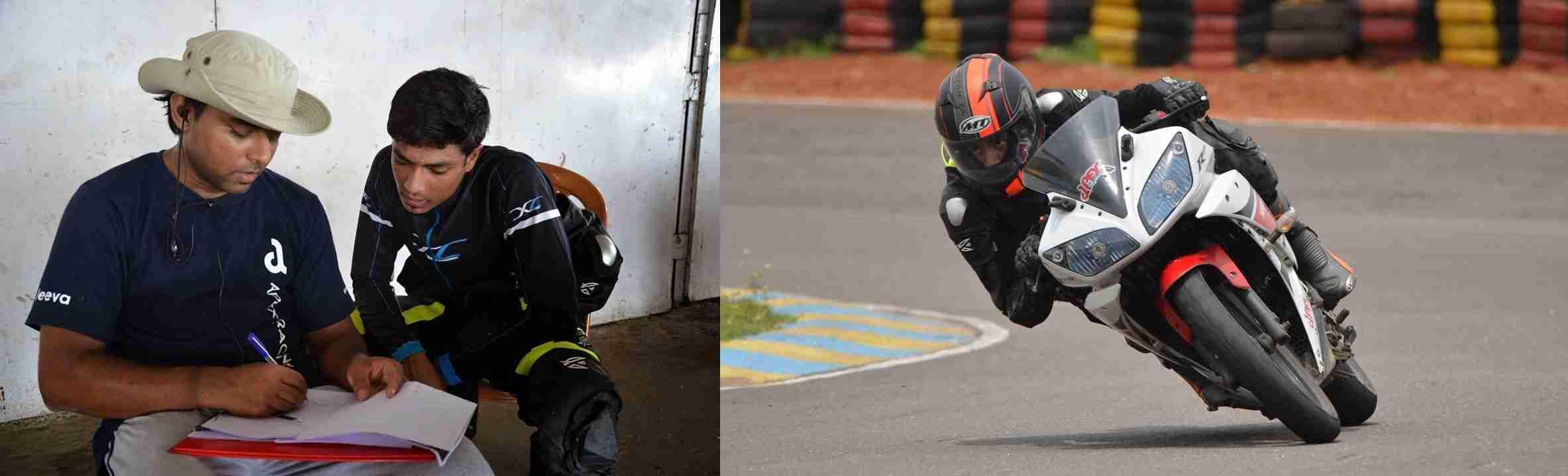 Kishore with Jeeva Reddy - Apex Racing