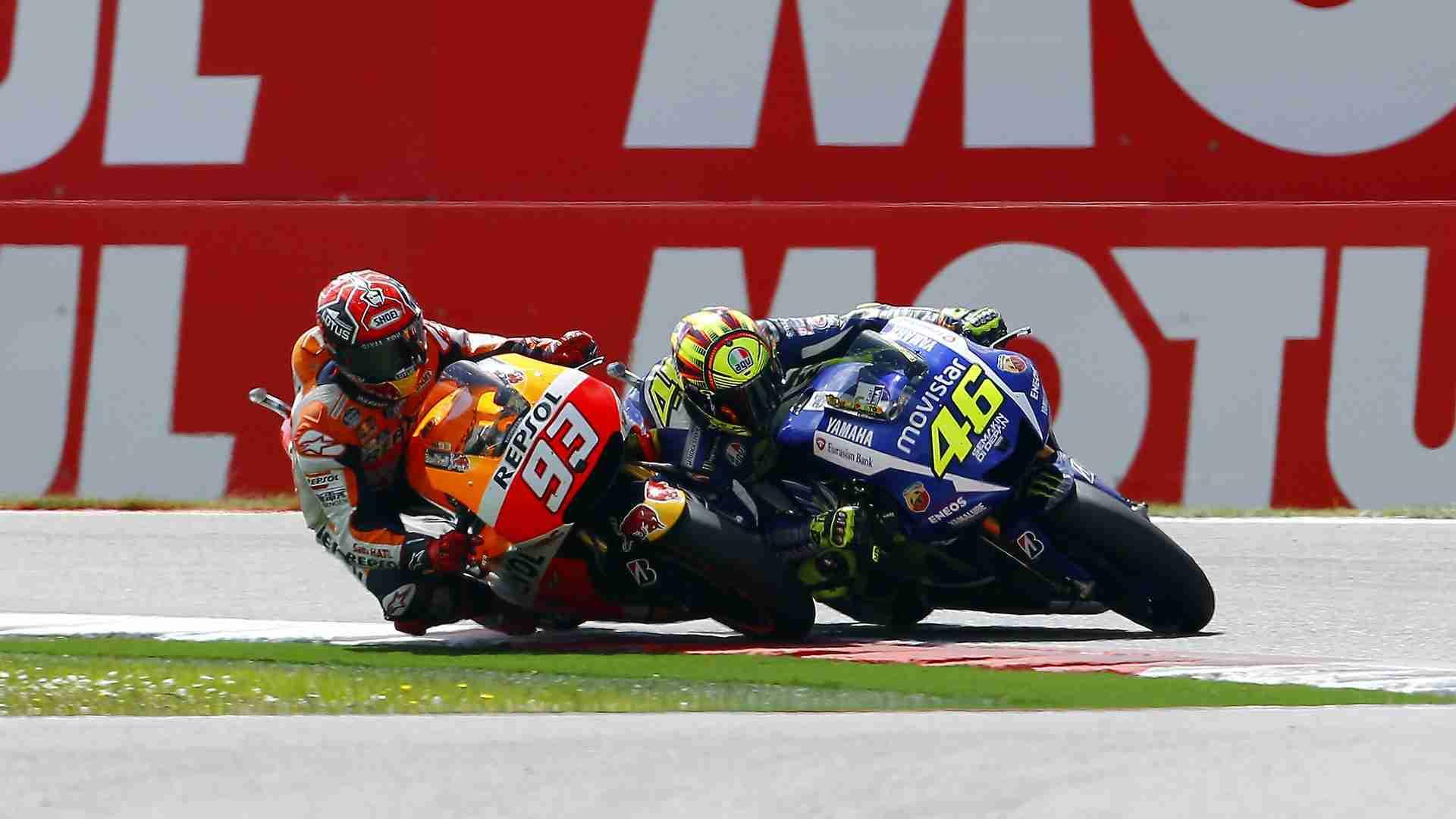 Rossi Marquez MotoGP Assen 2015 wallpaper