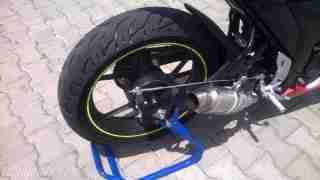Suzuki Gixxer SF race spec exhaust