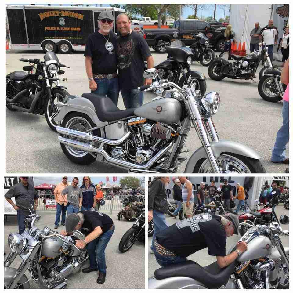 San Diego Harley Davidson Fat Boy with Willie G