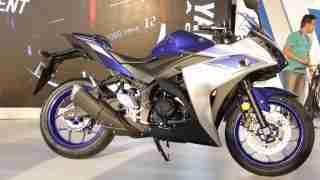 Yamaha YZF-R3 side view