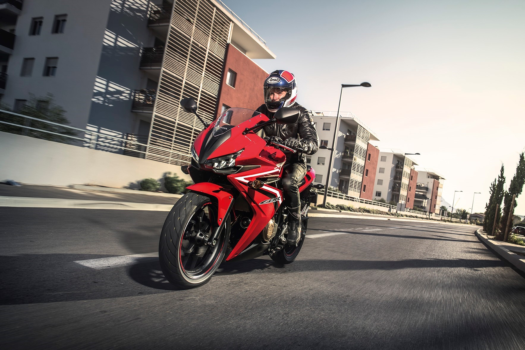 2016 Honda CBR500R action shot