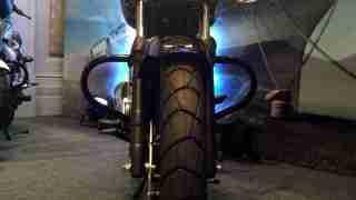 Bajaj V tail front view