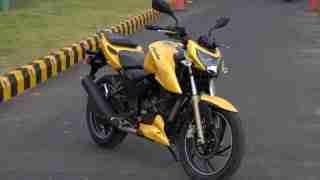 TVS Apache RTR 200 yellow colour option